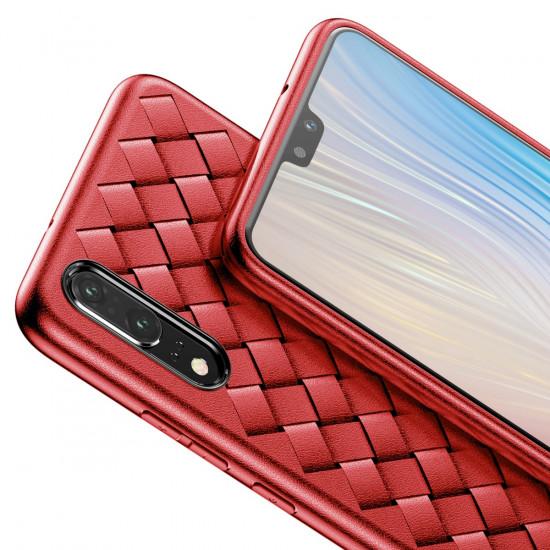 Baseus Huawei P20 BV Weaving Θήκη Σιλικόνης - Κόκκινη - WIHWP20-BV09