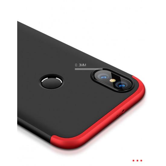 GKK Xiaomi Redmi Note 5 Θήκη 360 Full Body - Black / Red