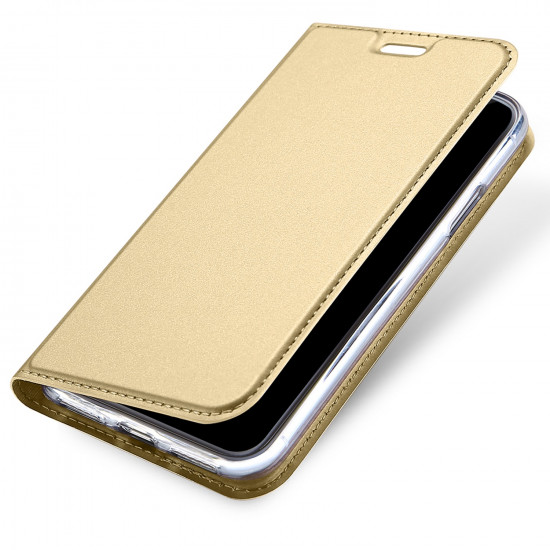 Dux Ducis Apple iPhone X / XS Flip Stand Case Θήκη Βιβλίο - Gold