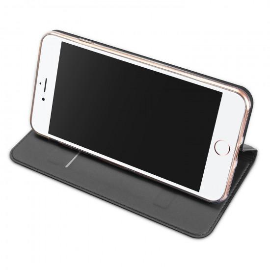 Dux Ducis Apple iPhone 7 Plus / 8 Plus Flip Stand Case Θήκη Βιβλίο - Grey