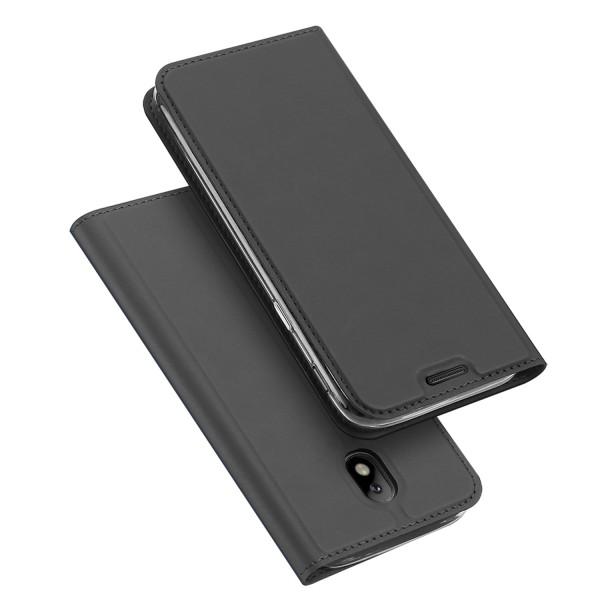 Dux Ducis Samsung Galaxy J7 2017 Flip Stand Case Θήκη Βιβλίο - Grey
