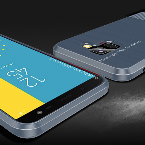 Dux Ducis Samsung Galaxy J6 2018 Θήκη Σιλικόνης Mojo Carbon - Blue
