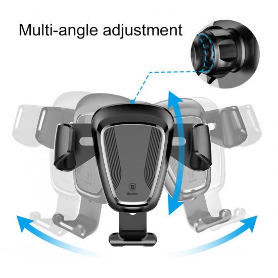 Baseus Gravity Car Air Vent Mobile Holder - Universal Βάση Αυτοκινήτου Αεραγωγού - Black - SUYL-01
