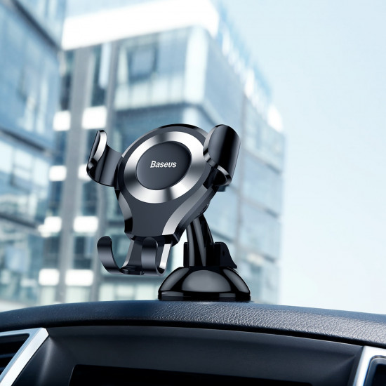 Baseus Osculum Gravity Car Mobile Holder - Universal Βάση Αυτοκινήτου - Black / Silver - SUYL-XP0S