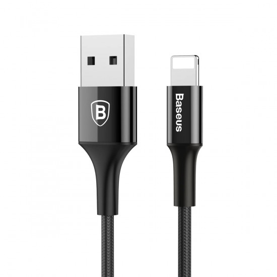 Baseus Shining with Jet Metal Lightning Cable - Καλώδιο Lightning 2A 1M - Black - CALSY-01