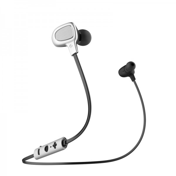 Baseus B15 Seal Bluetooth Earphone - Ασύρματα Ακουστικά για Smartphone / iPhone - Silver / Black - NGB15-0S