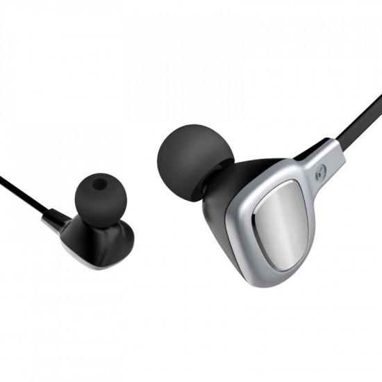 Baseus B15 Seal Bluetooth Earphone - Ασύρματα Ακουστικά για Smartphone / iPhone - Silver / Black - NGB15-0S