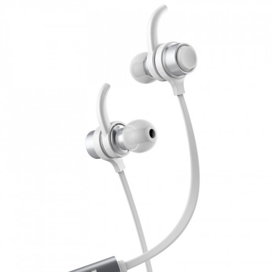 Baseus B16 Comma Bluetooth Earphone - Ασύρματα Ακουστικά για Smartphone / iPhone - Silver / White - NGB16-02