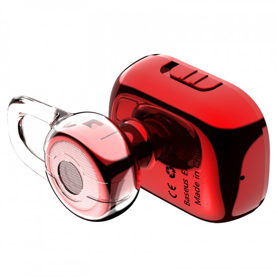 Baseus Encok A02 Mini Wireless Headset - Ασύρματο ακουστικό Bluetooth - Red - NGA02-09