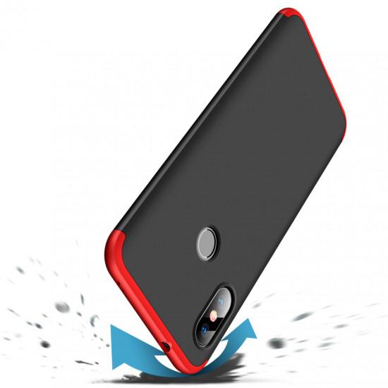 GKK Xiaomi Mi A2 Lite Θήκη 360 Full Body - Black / Red
