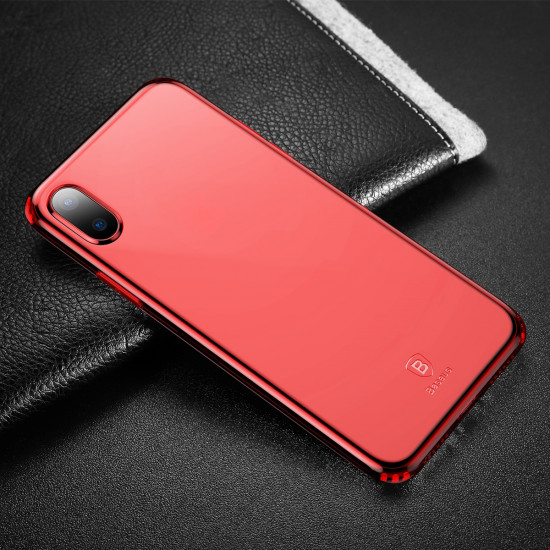 Baseus Simple Series TPU Case for Apple iPhone X / XS - Red - ARAPIPHX-C09
