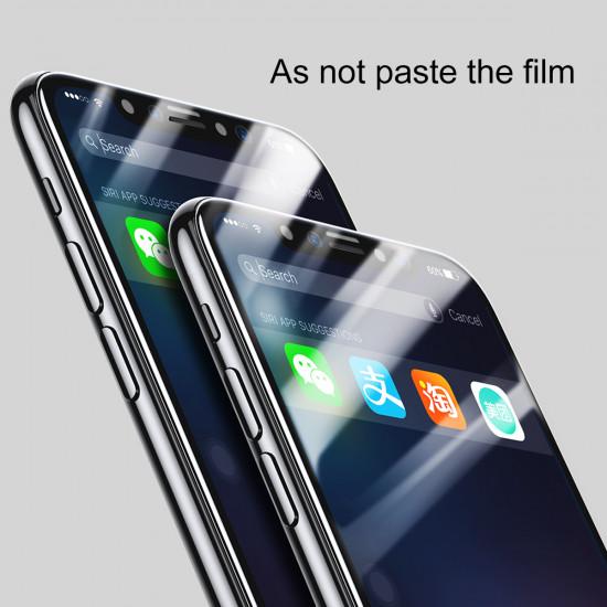 Baseus Apple iPhone X / XS 0,3mm Full Screen Αντιχαρακτικό Γυαλί Οθόνης 9H - White - SGAPIPHX-A3D02