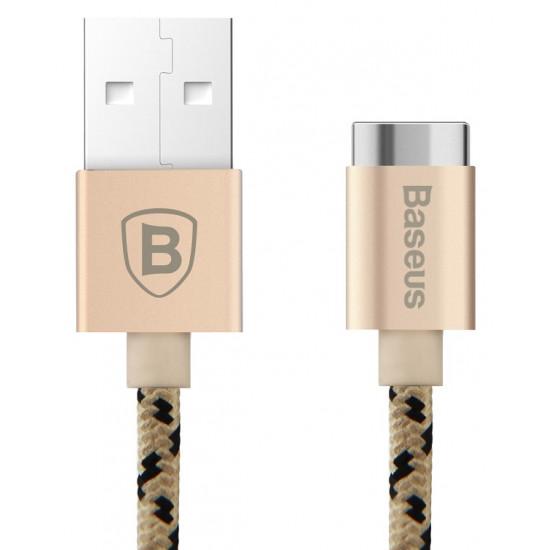Baseus Insnap Series Magnetic USB Quick Charge Cable - Υψηλής Ταχύτητας Μαγνητικό Καλώδιο USB Γρήγορης Φόρτισης 1M - Rose Gold - CAMCLH-ALF0R