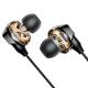 Baseus S10 Double Moving-Coil Bluetooth Headset - Ασύρματα Ακουστικά με 2 Ηχεία σε Κάθε Ακουστικό για Smartphone / iPhone - Black - NGS10-01