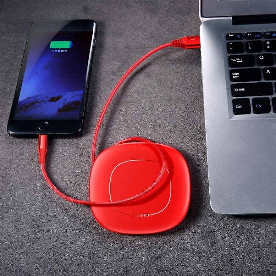 Baseus USB Lightning Cable 2A - Καλώδιο Δεδομένων και Φόρτισης USB Lightning για iPhone 1,2M - Red - CALRX-09