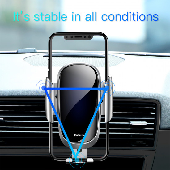 Baseus Future Gravity Car Air Vent Mobile Holder - Universal Βάση Αυτοκινήτου Αεραγωγού - Blue - SUYL-WL03
