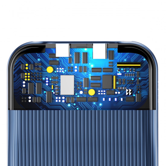 Baseus Apple iPhone 7 / 8 Audio Case Σκληρή Θήκη με Πλαίσιο Σιλικόνης και Ενσωματωμένο Αντάπτορα με 2 Θύρες Lightning - Dark Blue - WIAPIPH8N-VI15
