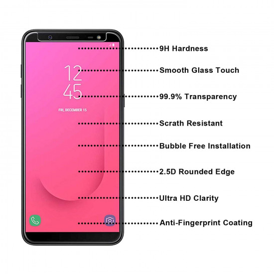 Lito Samsung Galaxy J8 2018 0.33mm 2.5D 9H Anti Fingerprint Tempered Glass Αντιχαρακτικό Γυαλί Οθόνης - Clear