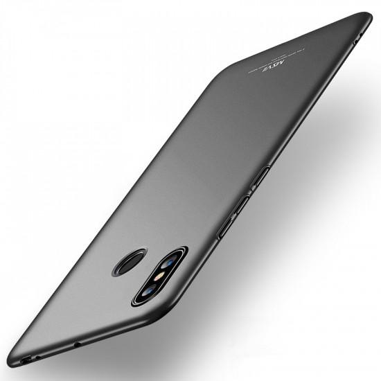 MSVII Xiaomi Mi Max 3 Simple Ultra-Thin Σκληρή Θήκη - Smooth Black