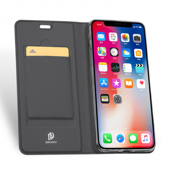 Dux Ducis Apple iPhone XR Flip Stand Case Θήκη Βιβλίο - Grey
