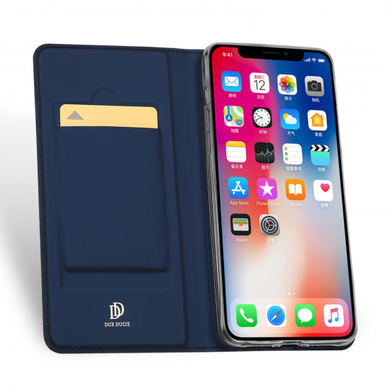 Dux Ducis Apple iPhone XS Max Flip Stand Case Θήκη Βιβλίο - Blue