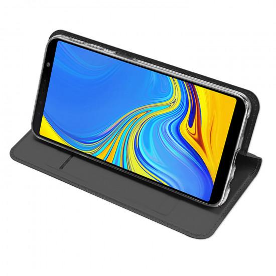 Dux Ducis Samsung Galaxy A7 2018 Flip Stand Case Θήκη Βιβλίο - Grey