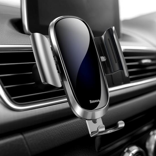 Baseus Future Gravity Car Air Vent Mobile Holder - Universal Βάση Αυτοκινήτου Αεραγωγού - Silver - SUYL-WL0S