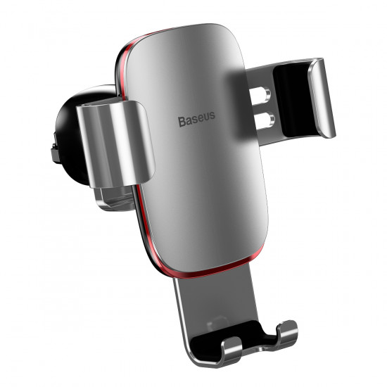 Baseus Metal Age Gravity Car Air Vent Mobile Holder - Universal Βάση Αυτοκινήτου Αεραγωγού - Silver - SUYL-D0S