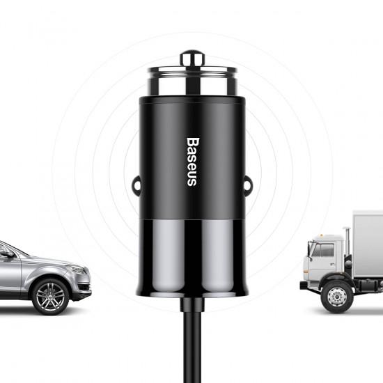 Baseus Enjoy Together 2-in-1 Φορτιστής Αυτοκινήτου 4.8A με μία Θύρα USB και Καλώδιο Lightning / Type-C - Black - CCALL-EL01