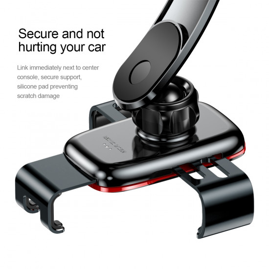 Baseus Metal Age Gravity Connecting Rod Type Car Holder - Universal Βάση Αυτοκινήτου - Black - SUYL-F01