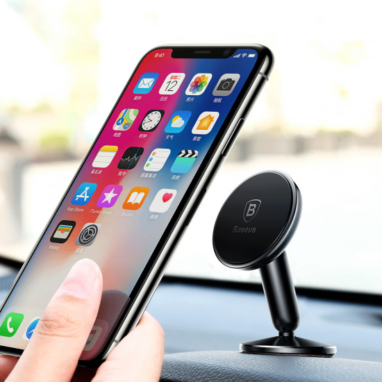 Baseus Bullet An On-Board Universal Magnetic Car Mount Holder for Smartphones / iPhones - Μαγνητική Βάση Αυτοκινήτου - Black - SUYZD-01
