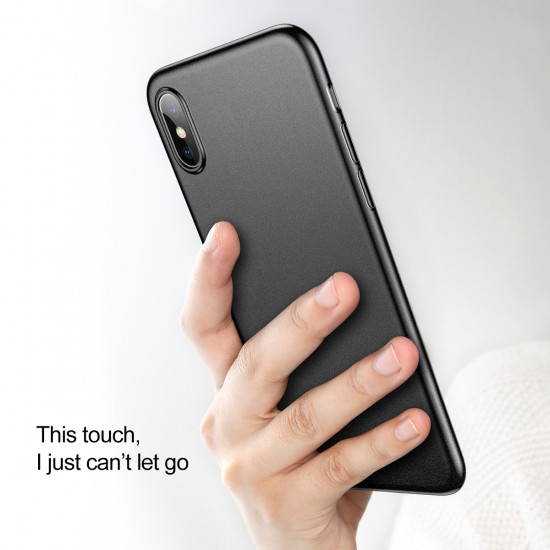 Baseus Apple iPhone XR Ultra Thin Lightweight Wing PP Case - Black / Clear - WIAPIPH61-E01