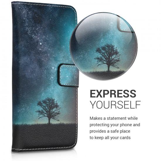KW Xiaomi Redmi Note 6 Pro Θήκη Πορτοφόλι Stand - Design Cosmic Nature - Multicolor - 46873.01