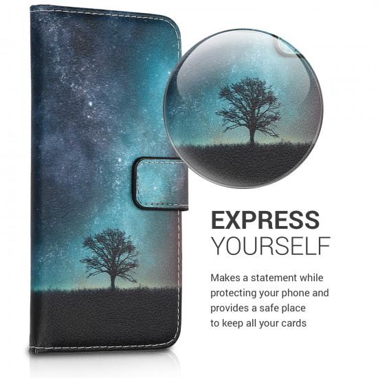 KW Xiaomi Redmi Note 5 Θήκη Πορτοφόλι Stand - Cosmic Nature - Multicolor - 45868.04