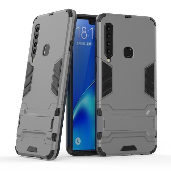 OEM Samsung Galaxy A9 2018 Hybrid Armor Kickstand Case Σκληρή Θήκη Υψηλής Προστασίας με Πλαίσιο Σιλικόνης και Stand - Grey
