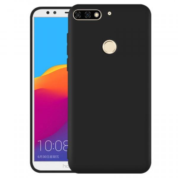 OEM Huawei Y7 2018 / Y7 Prime 2018 Θήκη Σιλικόνης Matte - Black