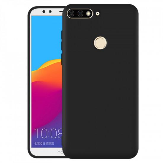 OEM Huawei Y6 Prime 2018 / Honor 7A Θήκη Σιλικόνης Matte - Black