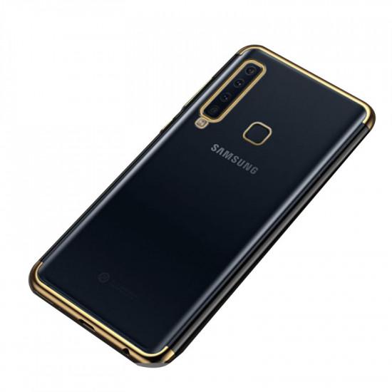 OEM Samsung Galaxy A9 2018 Electroplating Θήκη Σιλικόνης TPU - Gold - Διάφανη