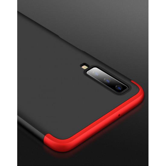 GKK Samsung Galaxy A7 2018 Θήκη 360 Full Body - Black / Red