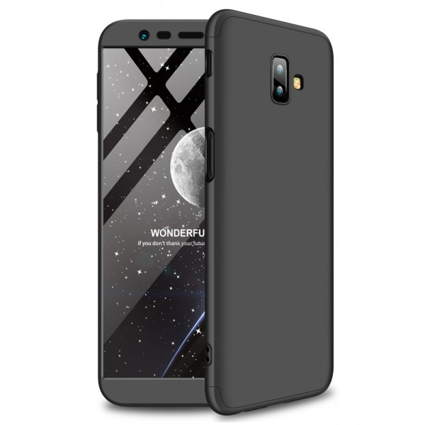 GKK Samsung Galaxy J6 Plus 2018 Θήκη 360 Full Body - Black