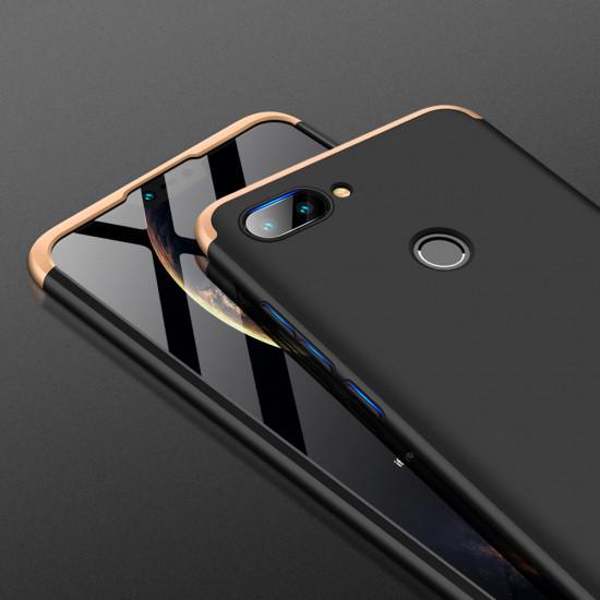 GKK Xiaomi Mi 8 Lite Θήκη 360 Full Body - Black / Gold