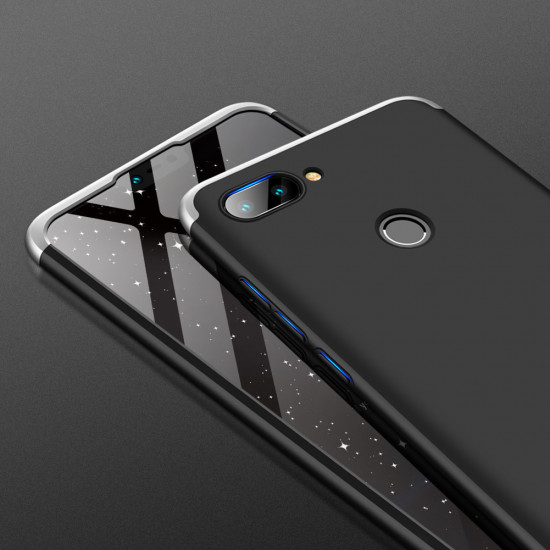 GKK Xiaomi Mi 8 Lite Θήκη 360 Full Body - Black / Silver