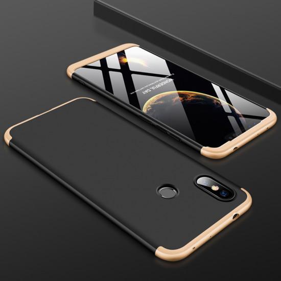GKK Xiaomi Redmi Note 6 Pro Θήκη 360 Full Body - Black / Gold