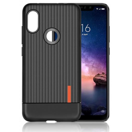 OEM Xiaomi Redmi Note 6 Pro Θήκη Σιλικόνης Business Luggage Stripe TPU - Black