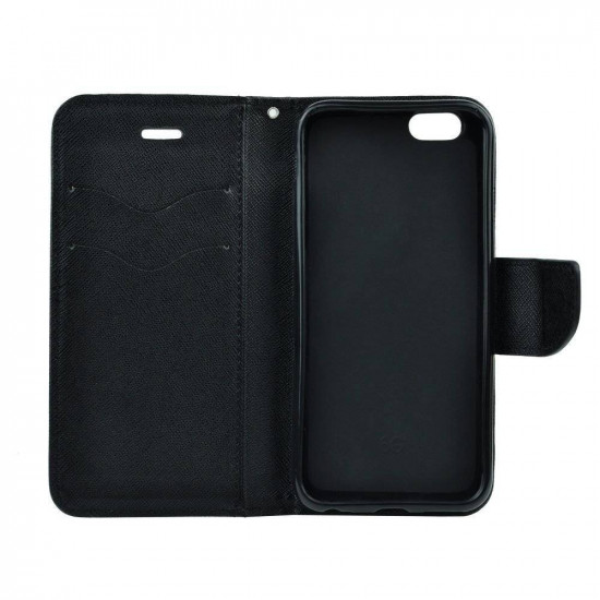 Forcell Fancy Diary Stand Case for Lenovo A369 - Black