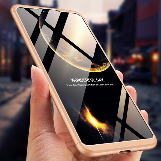 GKK Xiaomi Mi 8 Lite Θήκη 360 Full Body - Gold