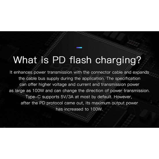 Baseus Cafule Cable Type-C 3A PD 2.0 Flash Charging - Καλώδιο Γρήγορης Φόρτισης Type-C to Type-C 1M - Red - CATKLF-G09
