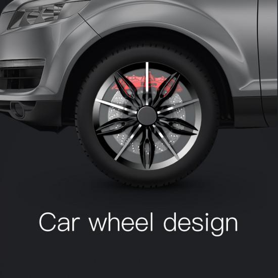 Baseus Wheel Ring Holder - Δαχτυλίδι Συγκράτησης Κινητού / Tablet - Βάση Στήριξης - Black / Silver - SULG-A1S