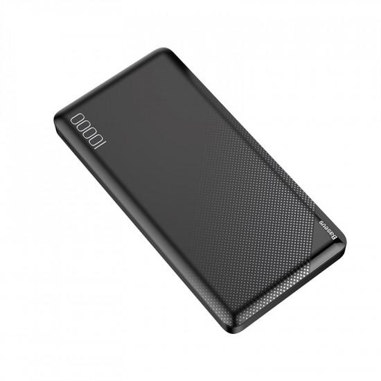Baseus Mini CU External Battery Power Bank with 2 USB 10000mAh 2.1A for Smartphones - Black - PPALL-KU01
