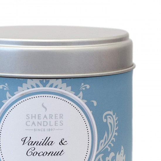 Shearer Candles Μεγάλο Αρωματικό Κερί Vanilla and Coconut - White - SC0621